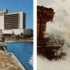 Pablo Guardiola<br> <em>Sea is History. Giants Waves</em>, 2011<br> C-print<br> 10 x 15 inches (diptych)