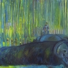 Keith Mayerson<br> <em>King Kong</em>, 2004<br> Oil on linen<br> 34 x 50 inches<br>