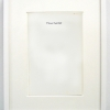 Matthew Higgs<br> <em>I Never Feel Old</em>, 2010<br> Framed book cover<br> 12.75 x 10 inches<br>